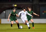 5 March 2020; Christina Kokoviadou of Greece in action against Niamh Fahey, left, and Áine O'Gorman of Republic of Ireland during the UEFA Women's 2021 European Championships Qualifier match between Republic of Ireland and Greece at Tallaght Stadium in Dublin. Photo by Seb Daly/Sportsfile