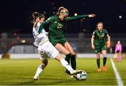 5 March 2020; Ruesha Littlejohn of Republic of Ireland in action against Eleni Markou of Greece during the UEFA Women's 2021 European Championships Qualifier match between Republic of Ireland and Greece at Tallaght Stadium in Dublin. Photo by Seb Daly/Sportsfile