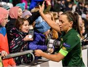 5 March 2020; Katie McCabe of Republic of Ireland with supporters following the UEFA Women's 2021 European Championships Qualifier match between Republic of Ireland and Greece at Tallaght Stadium in Dublin. Photo by Seb Daly/Sportsfile