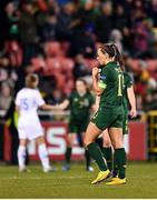 5 March 2020; Katie McCabe of Republic of Ireland celebrates at the final whistle following her side's victory during the UEFA Women's 2021 European Championships Qualifier match between Republic of Ireland and Greece at Tallaght Stadium in Dublin. Photo by Seb Daly/Sportsfile