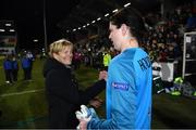5 March 2020; Republic of Ireland manager Vera Pauw, left, celebrates with Marie Hourihan of Republic of Ireland following the UEFA Women's 2021 European Championships Qualifier match between Republic of Ireland and Greece at Tallaght Stadium in Dublin. Photo by Stephen McCarthy/Sportsfile