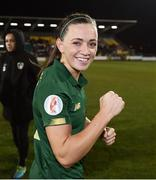 5 March 2020; Katie McCabe of Republic of Ireland celebrates following the UEFA Women's 2021 European Championships Qualifier match between Republic of Ireland and Greece at Tallaght Stadium in Dublin. Photo by Stephen McCarthy/Sportsfile