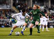 5 March 2020; Anastasia Gkatsou of Greece in action against Amber Barrett of Republic of Ireland during the UEFA Women's 2021 European Championships Qualifier match between Republic of Ireland and Greece at Tallaght Stadium in Dublin. Photo by Seb Daly/Sportsfile