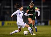 5 March 2020; Katie McCabe of Republic of Ireland in action against Natalia Chatzinikolaou of Greece during the UEFA Women's 2021 European Championships Qualifier match between Republic of Ireland and Greece at Tallaght Stadium in Dublin. Photo by Seb Daly/Sportsfile