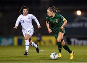 5 March 2020; Katie McCabe of Republic of Ireland in action against Christina Kokoviadou of Greece during the UEFA Women's 2021 European Championships Qualifier match between Republic of Ireland and Greece at Tallaght Stadium in Dublin. Photo by Seb Daly/Sportsfile