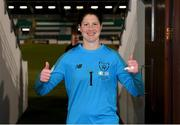 5 March 2020; Marie Hourihan of Republic of Ireland celebates following the UEFA Women's 2021 European Championships Qualifier match between Republic of Ireland and Greece at Tallaght Stadium in Dublin. Photo by Stephen McCarthy/Sportsfile