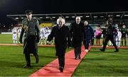 5 March 2020; President of Ireland Michael D Higgins and FAI President Gerry McAnaney prior to the UEFA Women's 2021 European Championships Qualifier match between Republic of Ireland and Greece at Tallaght Stadium in Dublin. Photo by Stephen McCarthy/Sportsfile