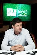 6 March 2020; Virgin Media pundit Niall Quinn during the Virgin Media Television's Spectacular Week of Sport event at The Alex Hotel in Dublin. Photo by Stephen McCarthy/Sportsfile