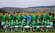 23 March 2019; Republic of Ireland players, back row from left, Mipo Odubeko, James Furlong, Luke Turner, Andrew Omobamidele, Harry Halwax, Jimmy Corcoran, Conor Carty, Josh Giurgi, Anselmo Garcia MacNulty and Timi Sobowale, front row from left, Matt Everitt, Ronan McKinley, Charlie McCann, Brandon Holt, Séamas Keogh, Sean Kennedy, Sean McEvoy, Toby Owens and Joesph Hoge during a Republic of Ireland U17's Portrait session at CityWest Hotel in Dublin. Photo by Eóin Noonan/Sportsfile