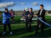 6 March 2020; FAI Interim Deputy Chief Executive Niall Quinn and Lord Mayor of Dublin Tom Brabazon, left, preform the official opening of the new Darndale FC all-weather pitch at Darndale Park in Dublin. Photo by Stephen McCarthy/Sportsfile