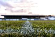 6 March 2020; A detailed view of the pitch ahead of the SSE Airtricity League Premier Division match between Finn Harps and Dundalk at Finn Park in Ballybofey, Donegal. Photo by Ben McShane/Sportsfile