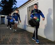 6 March 2020; Michael Dowling of Laois and his team-mates on their way into the team dressing room before the EirGrid Leinster GAA Football U20 Championship Final match between Laois and Dublin at Netwatch Cullen Park in Carlow. Photo by Matt Browne/Sportsfile