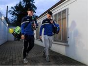 6 March 2020; Laois players, Gary Saunders, left, and team captain Ronan Coffey on their way into the team dressing room before the EirGrid Leinster GAA Football U20 Championship Final match between Laois and Dublin at Netwatch Cullen Park in Carlow. Photo by Matt Browne/Sportsfile