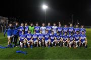 6 March 2020; The Laois squad before the EirGrid Leinster GAA Football U20 Championship Final match between Laois and Dublin at Netwatch Cullen Park in Carlow. Photo by Matt Browne/Sportsfile