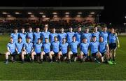 6 March 2020; The Dublin squad before the EirGrid Leinster GAA Football U20 Championship Final match between Laois and Dublin at Netwatch Cullen Park in Carlow. Photo by Matt Browne/Sportsfile