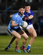 6 March 2020; Ciaran Archer of Dublin in action against Barry Howlin of Laois during the EirGrid Leinster GAA Football U20 Championship Final match between Laois and Dublin at Netwatch Cullen Park in Carlow. Photo by Matt Browne/Sportsfile
