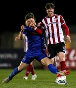 6 March 2020; Stephen Mallon of Derry City in action against Sam Bone of Waterford United during the SSE Airtricity League Premier Division match between Waterford and Derry City at RSC in Waterford. Photo by Michael P Ryan/Sportsfile