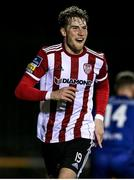 6 March 2020; Stephen Mallon of Derry City celebrates after scoring his side's first goal during the SSE Airtricity League Premier Division match between Waterford United and Derry City at RSC in Waterford. Photo by Michael P Ryan/Sportsfile