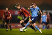 6 March 2020; Lorcan Fitzgerald of Shelbourne in action against Kris Twardek of Bohemians during the SSE Airtricity League Premier Division match between Bohemians and Shelbourne at Dalymount Park in Dublin. Photo by Stephen McCarthy/Sportsfile