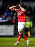 6 March 2020; Martin Rennie of St Patrick's Athletic reacts during the SSE Airtricity League Premier Division match between St Patrick's Athletic and Cork City at Richmond Park in Dublin. Photo by Seb Daly/Sportsfile