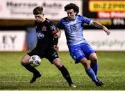 6 March 2020; Cammy Smith of Dundalk in action against Barry McNamee of Finn Harps during the SSE Airtricity League Premier Division match between Finn Harps and Dundalk at Finn Park in Ballybofey, Donegal. Photo by Ben McShane/Sportsfile