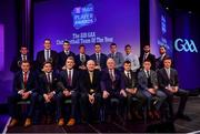 6 March 2020; The Football Team of the Year, front row, from left, Bernard Power of Corofin, Aaron Branagan of Kilcoo, Kieran Fitzgerald of Corofin, AIB Head of Retail Banking Denis O'Callaghan, Uachtarán Chumann Lúthchleas Gael John Horan, Liam Silke of Corofin, Kevin O'Donovan of Nemo Rangers, and Robbie McDaid of Ballyboden St. Endas, and, back row, from left, Darryl Branagan of Kilcoo, Corofin manager Kevin O'Brien on behalf of Daithí Burke of Corofin, Ronan Steede of Corofin, Gary Sice of Corofin, Paul Devlin of Kilcoo, Seán Gannon of Éire Óg, Colm Basquel of Ballyboden St. Endas, Martin Farragher of Corofin and Conor Laverty of Kilcoo during the AIB GAA Club Players' Awards at Croke Park in Dublin. Photo by Sam Barnes/Sportsfile