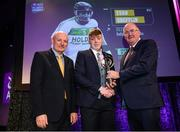 6 March 2020; Evan Shefflin of Ballyhale Shamrocks is presented with his Hurling Team of the Year Award by AIB Head of Retail Banking Denis O'Callaghan, left, and Uachtarán Chumann Lúthchleas Gael John Horan during the AIB GAA Club Players' Awards at Croke Park in Dublin. Photo by Ramsey Cardy/Sportsfile