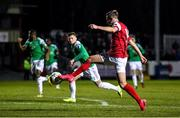 6 March 2020; Billy King of St Patrick's Athletic on his way to scoring his side's first goal during the SSE Airtricity League Premier Division match between St Patrick's Athletic and Cork City at Richmond Park in Dublin. Photo by Seb Daly/Sportsfile