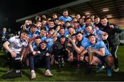 6 March 2020; The Dublin squad celebrate with the cup following the EirGrid Leinster GAA Football U20 Championship Final match between Laois and Dublin at Netwatch Cullen Park in Carlow. Photo by Matt Browne/Sportsfile