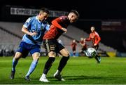 6 March 2020; Danny Grant of Bohemians in action against Aidan Friel of Shelbourne during the SSE Airtricity League Premier Division match between Bohemians and Shelbourne at Dalymount Park in Dublin. Photo by Eóin Noonan/Sportsfile