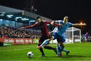 6 March 2020; Danny Mandroiu of Bohemians in action against Karl Sheppard of Shelbourne during the SSE Airtricity League Premier Division match between Bohemians and Shelbourne at Dalymount Park in Dublin. Photo by Eóin Noonan/Sportsfile
