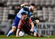 6 March 2020; Conor Levingston of Bohemians in action against Gary Deegan of Shelbourne during the SSE Airtricity League Premier Division match between Bohemians and Shelbourne at Dalymount Park in Dublin. Photo by Eóin Noonan/Sportsfile