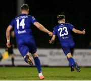 6 March 2020; Shane Griffin of Waterford celebrates after scoring his side's second goal during the SSE Airtricity League Premier Division match between Waterford and Derry City at RSC in Waterford. Photo by Michael P Ryan/Sportsfile