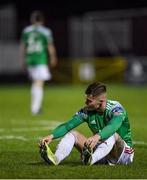 6 March 2020; Charlie Fleming of Cork City following his side's defeat during the SSE Airtricity League Premier Division match between St Patrick's Athletic and Cork City at Richmond Park in Dublin. Photo by Seb Daly/Sportsfile