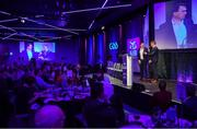 6 March 2020; A general view as AIB GAA Club Hurler of the Year Brendan Maher of Borris-Ileigh is interviewed during the AIB GAA Club Players' Awards at Croke Park in Dublin. Photo by Sam Barnes/Sportsfile