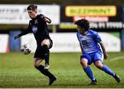 6 March 2020; Cammy Smith of Dundalk and Barry McNamee of Finn Harps during the SSE Airtricity League Premier Division match between Finn Harps and Dundalk at Finn Park in Ballybofey, Donegal. Photo by Ben McShane/Sportsfile