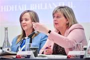7 March 2020; Marie Hickey, President, LGFA, right, with Helen O'Rourke, CEO, LGFA, during the LGFA Annual Congress 2020 at the Loughrea Hotel & Spa in Loughrea, Galway. Photo by Piaras Ó Mídheach/Sportsfile