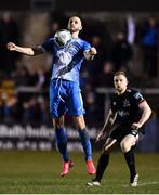 6 March 2020; Alex Kolger of Finn Harps and Sean Hoare of Dundalk during the SSE Airtricity League Premier Division match between Finn Harps and Dundalk at Finn Park in Ballybofey, Donegal. Photo by Ben McShane/Sportsfile