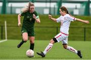 7 March 2020; Jessie Stapleton of Republic of Ireland in action against Lucy Cooper of England during the Women's Under-15s John Read Trophy match between Republic of Ireland and England at FAI National Training Centre in Dublin. Photo by Sam Barnes/Sportsfile