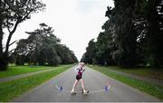 7 March 2020; Sean McMullin of Mullingar Harriers AC, Westmeath, competing during the Irish Life Health National 20k Walks Championships at St Anne's Park in Raheny, Dublin. Photo by Ramsey Cardy/Sportsfile