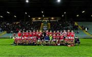 4 March 2020; The Cork squad before the EirGrid Munster GAA Football U20 Championship Final match between Kerry and Cork at Austin Stack Park in Tralee, Kerry. Photo by Piaras Ó Mídheach/Sportsfile