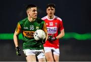 4 March 2020; Eddie Horan of Kerry gets past Éanna O'Hanlon of Cork during the EirGrid Munster GAA Football U20 Championship Final match between Kerry and Cork at Austin Stack Park in Tralee, Kerry. Photo by Piaras Ó Mídheach/Sportsfile