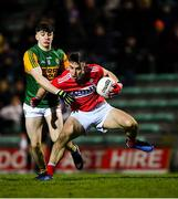 4 March 2020; Bill Foley of Cork in action against Patrick Darcy of Kerry during the EirGrid Munster GAA Football U20 Championship Final match between Kerry and Cork at Austin Stack Park in Tralee, Kerry. Photo by Piaras Ó Mídheach/Sportsfile