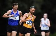 7 March 2020; Alex Wright of Leevale AC, Cork, and Brendan Boyce of Finn Valley AC, Donegal, competing during the Irish Life Health National 20k Walks Championships at St Anne's Park in Raheny, Dublin. Photo by Ramsey Cardy/Sportsfile