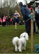 7 March 2020; Louis O'Loughlin of Moyle Park College, Co Dublin competing in the Senior Boys race during the Irish Life Health All-Ireland Schools Cross Country Championships at Santry Demesne in Santry, Dublin. Photo by David Fitzgerald/Sportsfile