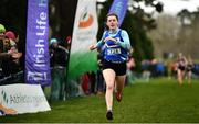 7 March 2020; Lucy Holmes of Ard Scoil na nDéise, Co Waterford on her way to winning the Senior Girls race during the Irish Life Health All-Ireland Schools Cross Country Championships at Santry Demesne in Santry, Dublin. Photo by David Fitzgerald/Sportsfile