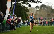 7 March 2020; Eimear Maher of Mount Anville, Co Dublin on her way to winning the Intermediate Girls race during the Irish Life Health All-Ireland Schools Cross Country Championships at Santry Demesne in Santry, Dublin. Photo by David Fitzgerald/Sportsfile