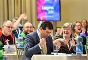 7 March 2020; Micheál Naughton reacts after he was elected as LGFA President Elect during the LGFA Annual Congress 2020 at the Loughrea Hotel & Spa in Loughrea, Galway. Photo by Piaras Ó Mídheach/Sportsfile