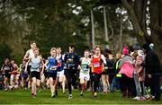 7 March 2020; Runners competing in the Minor Boys race during the Irish Life Health All-Ireland Schools Cross Country Championships at Santry Demesne in Santry, Dublin. Photo by David Fitzgerald/Sportsfile