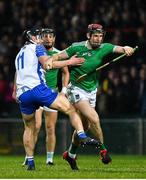 7 March 2020; David Dempsey of Limerick is tackled by Pauric Mahony of Waterford during the Allianz Hurling League Division 1 Group A Round 3 match between Limerick and Waterford at LIT Gaelic Grounds in Limerick. Photo by Eóin Noonan/Sportsfile